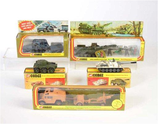 Corgi Toys, SU 100 Panzer, Saladin Armored Car,