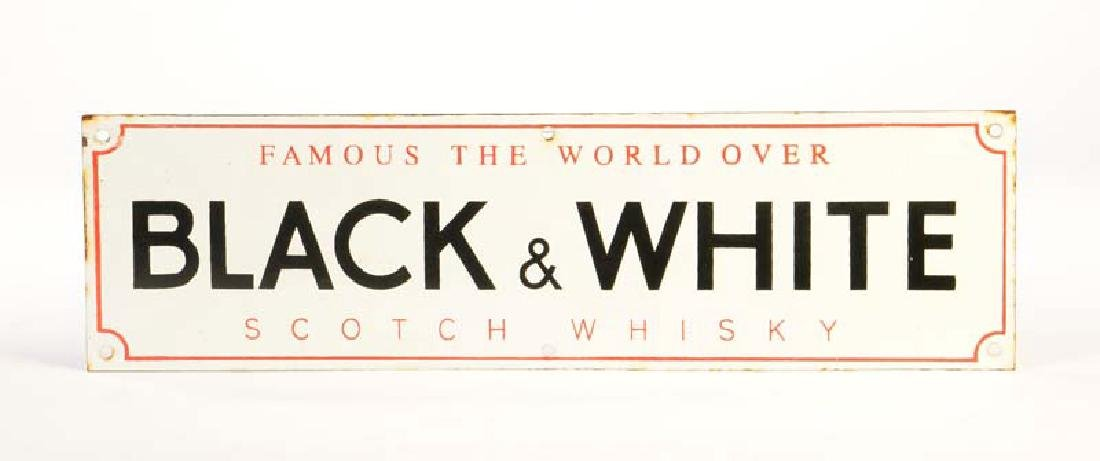 "Emaille Schild ""Black&White Scotch Whisky"""