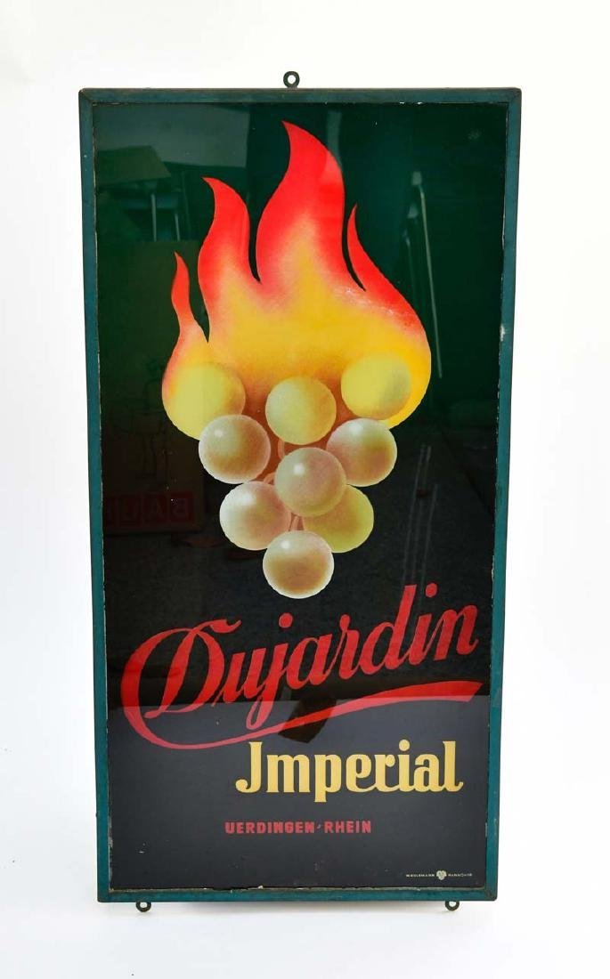 "Glas Schild "" Dujardin Imperial"""