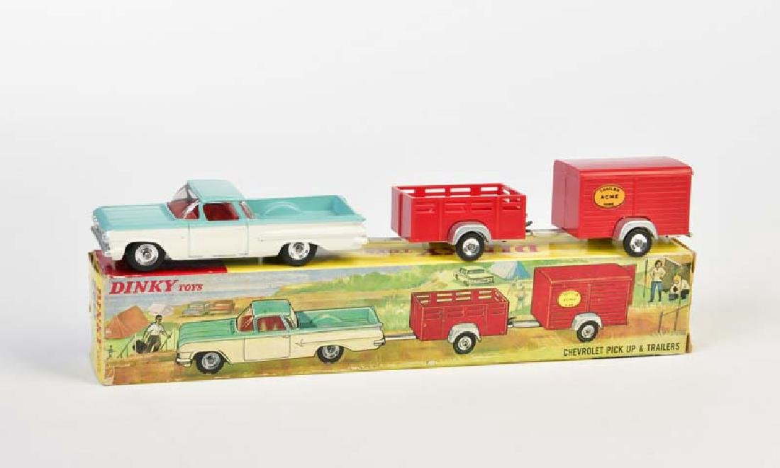 Dinky Toys, Chevrolet Pick Up + 2 Trailer 448