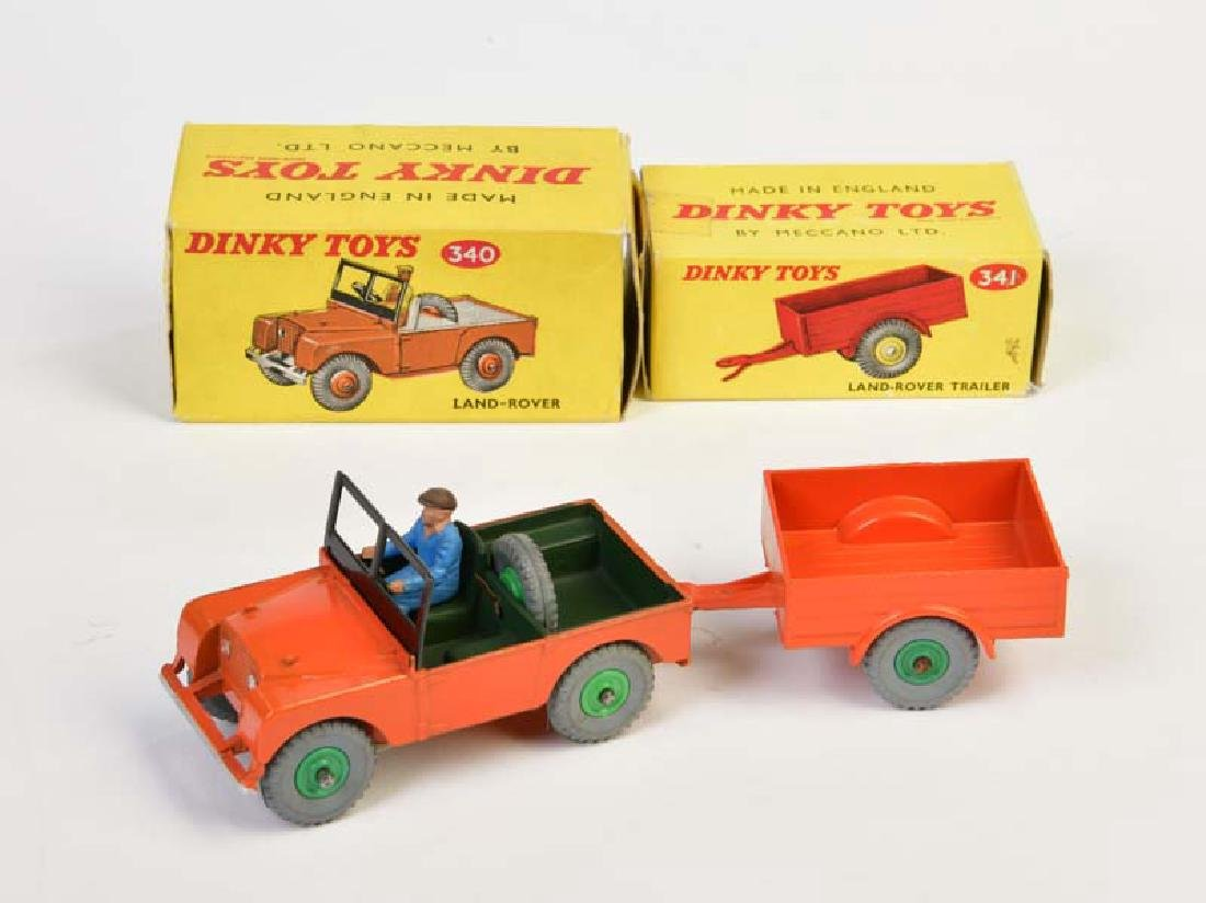 Dinky Toys, Land Rover + Trailer 340 + 341