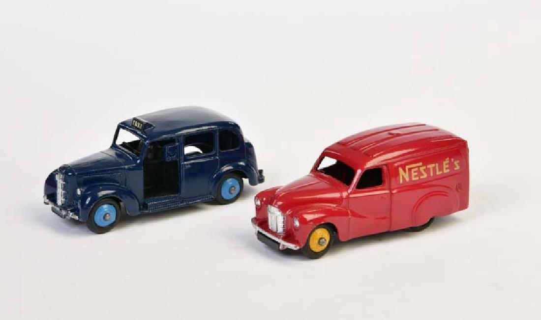 Dinky Toys, Austin Taxi + Nestle Van