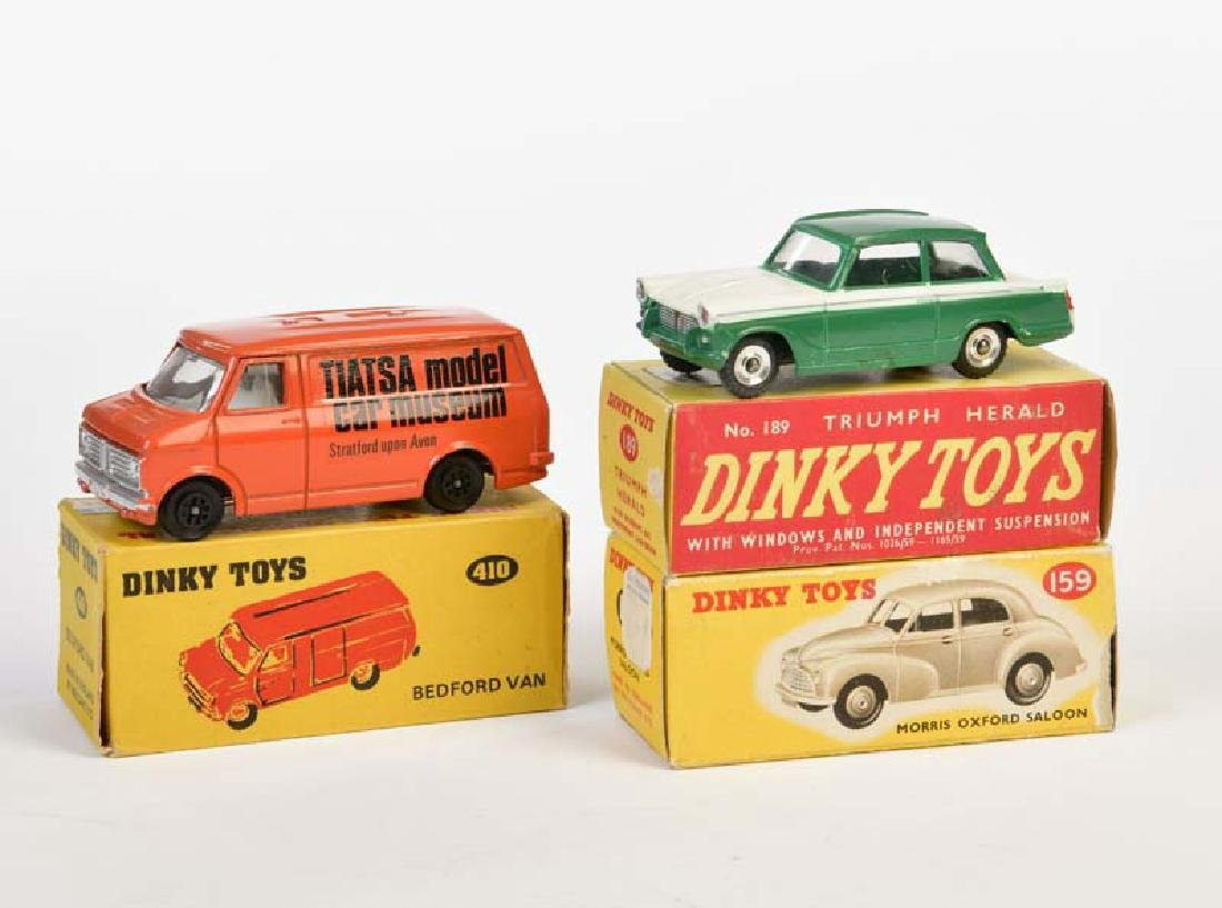 Dinky Toys, Bedford Van + Triumph Herald