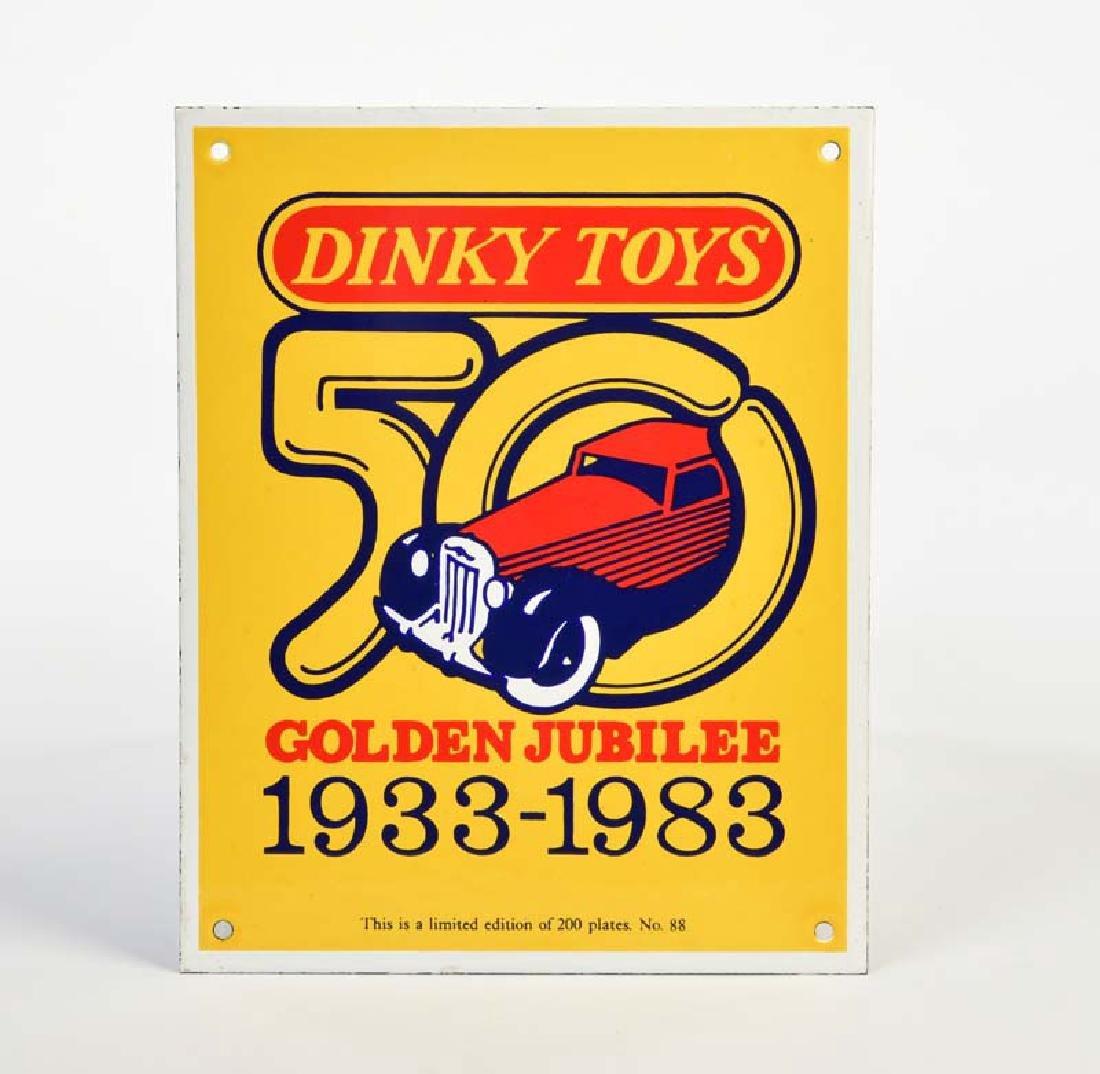 "Dinky Toys, Emailleschild ""Golden Jubilee"""