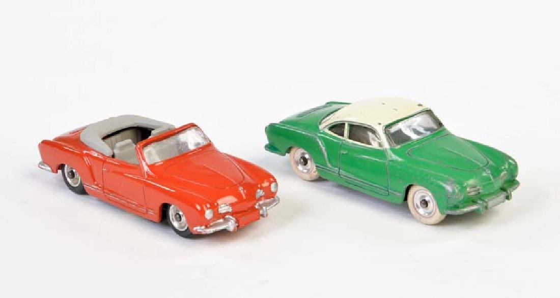 Dinky Toys, 2x Karmann Ghia