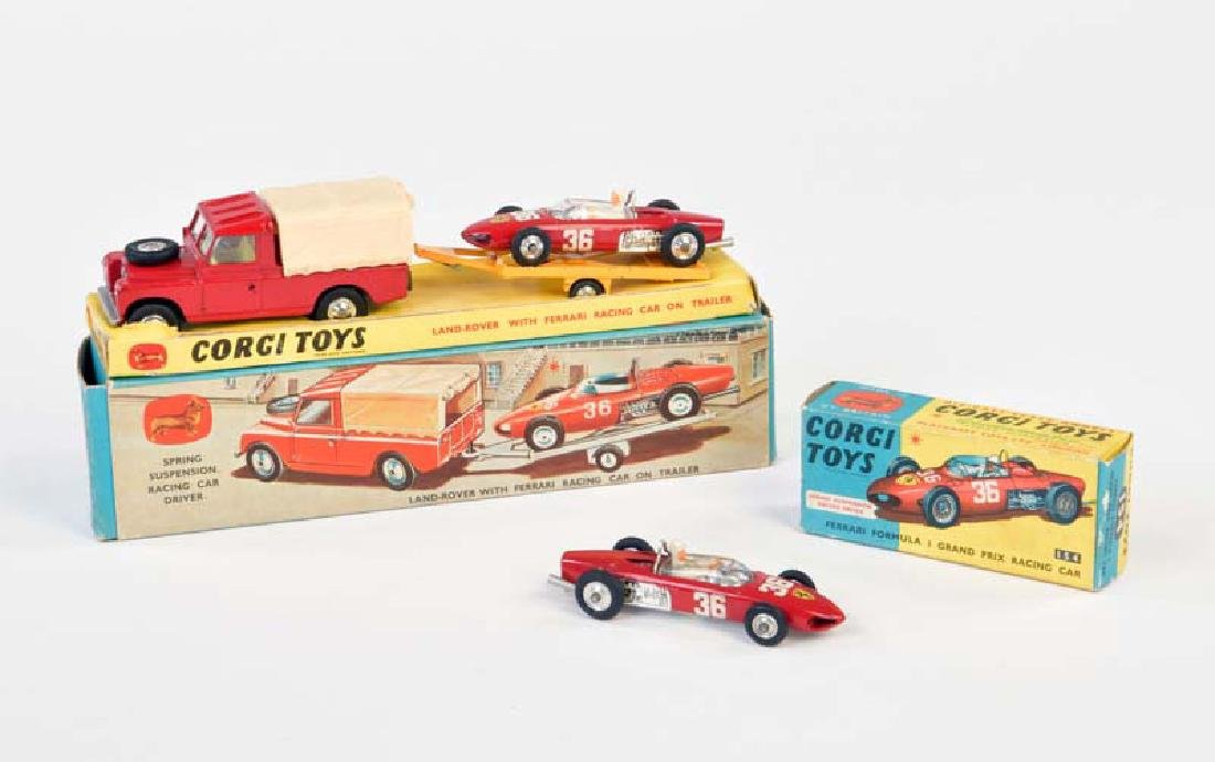 Corgi Toys, Gift Set 17 (Land Rover, Ferrari Rennwagen