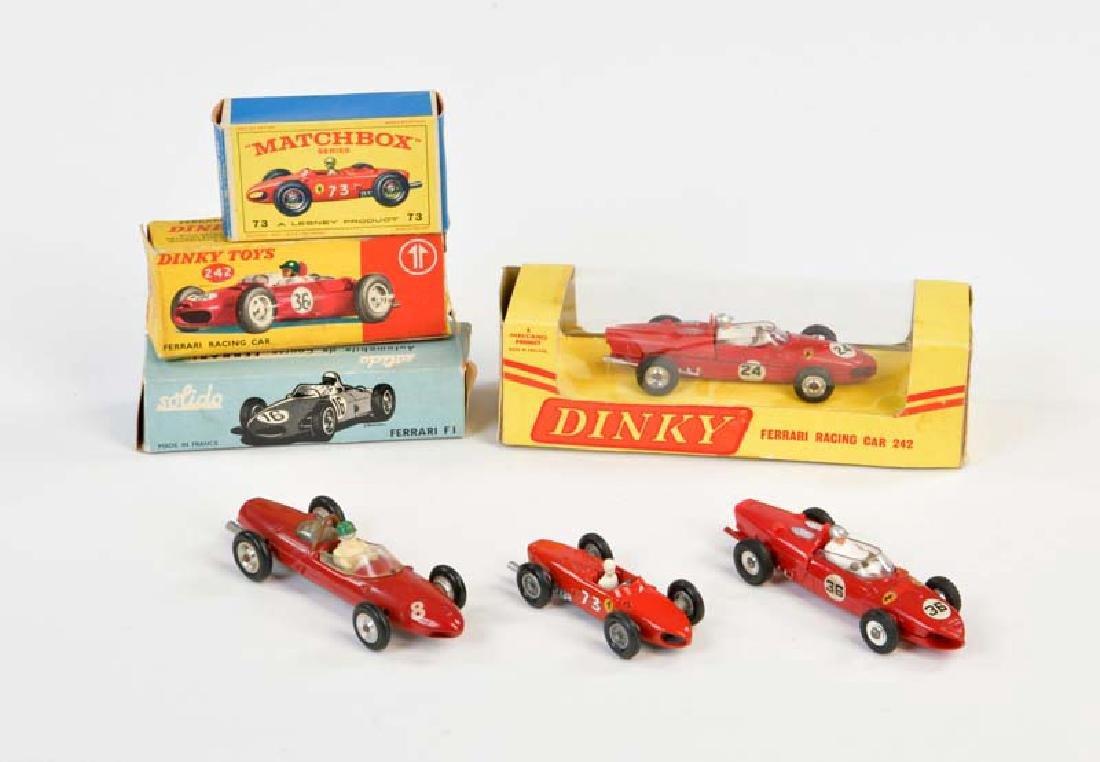 Dinky Toys, Matchbox, Solido: Ferrari F 1, Ferrari