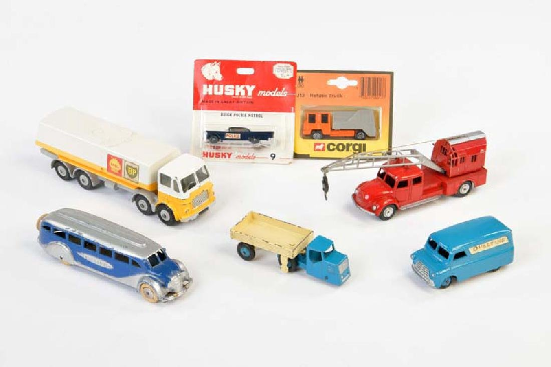 Dinky Toys, Marklin, Corgi Toys u.a., 7 Modellautos