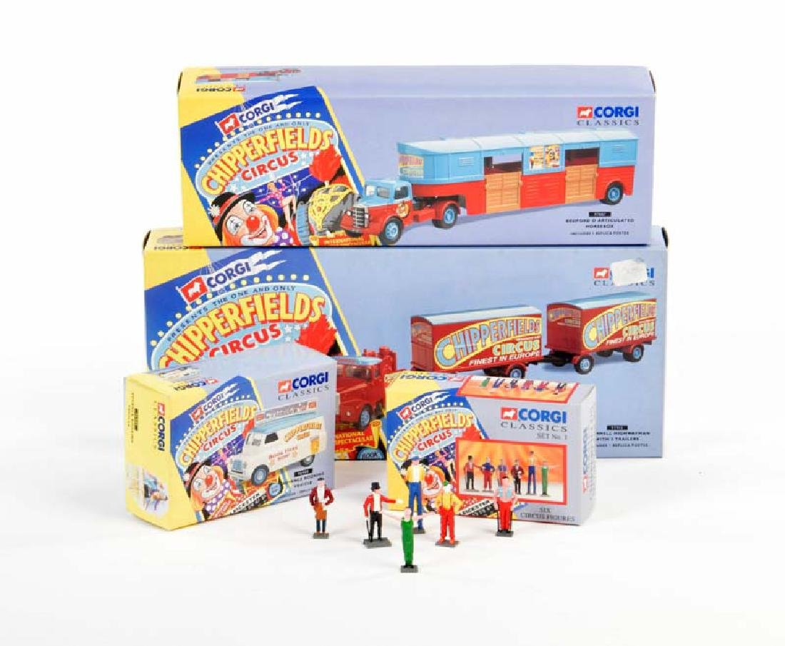 Corgi Toys, 4x Chipperfield Circus, Reproduktionen