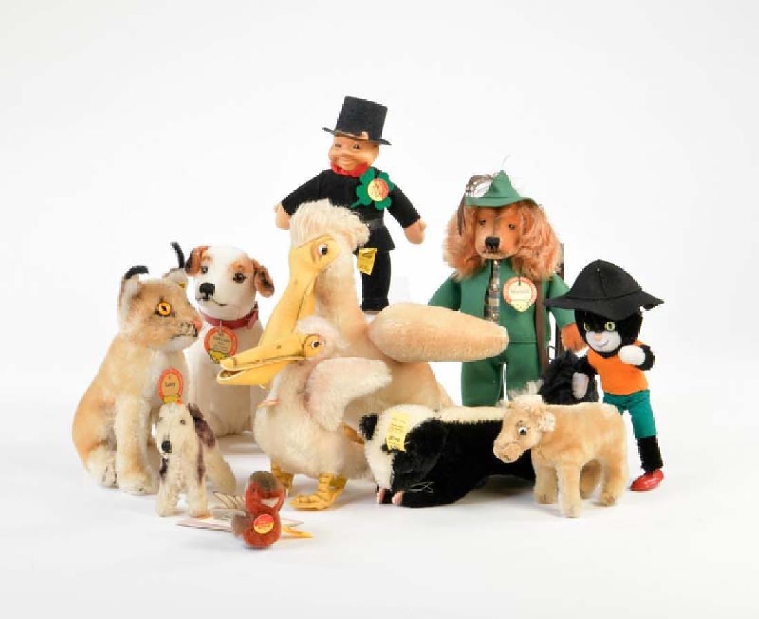 Steiff, Schuco: Tiere + Figuren