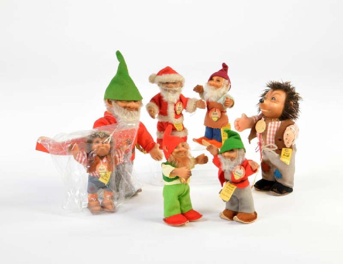 Steiff, Meckies. Zwerge + Santa Claus
