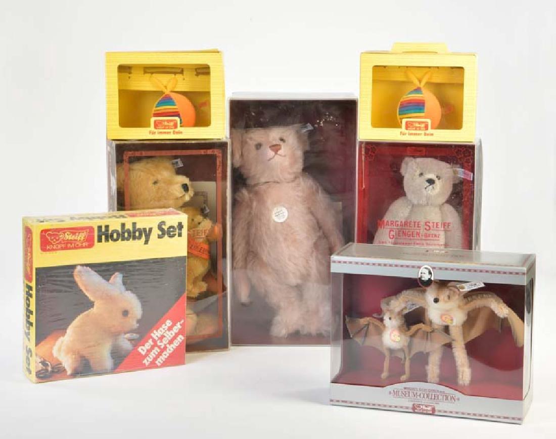 Steiff, Hobby Set, 2 Baelle, 3 Museumsbaeren + 2