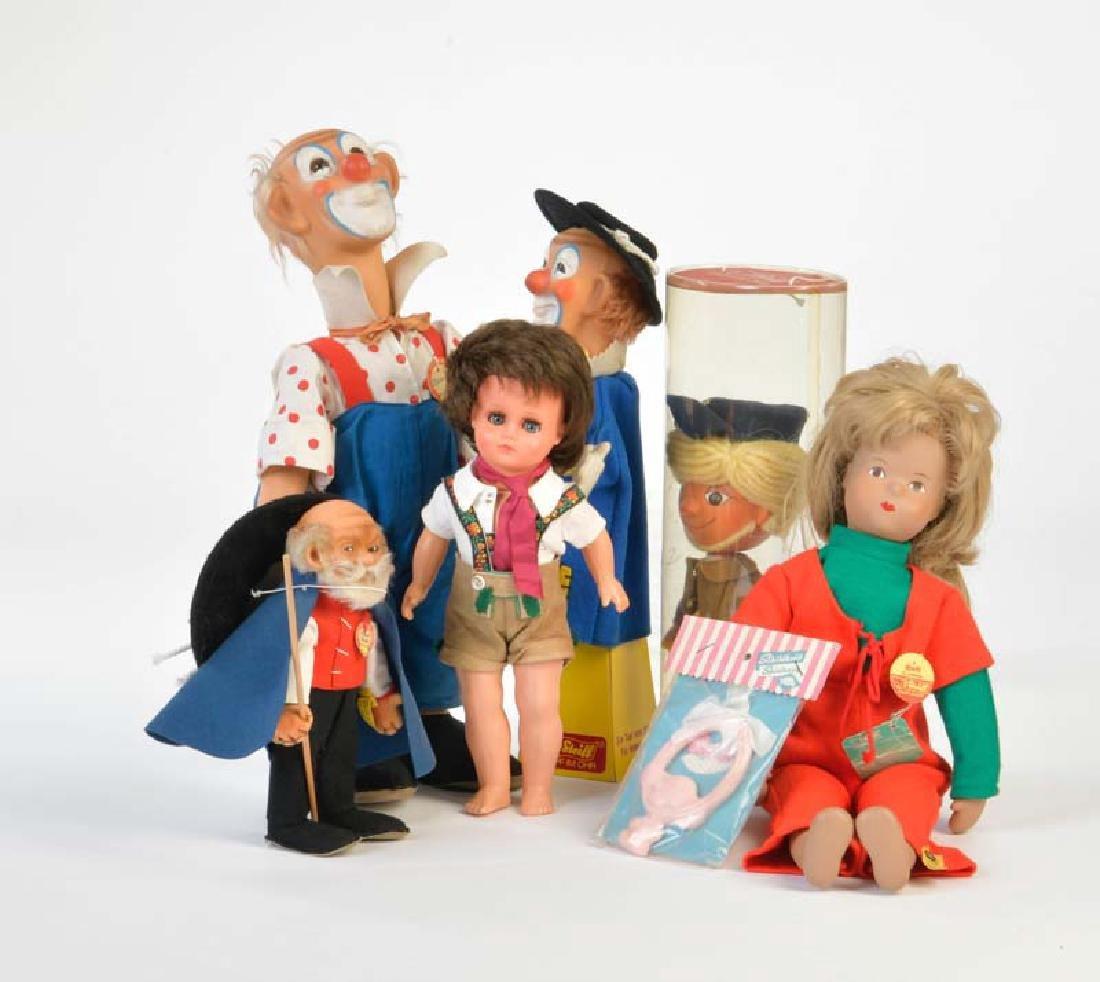 Steiff u.a., Figuren, Puppen + 1 Handpuppe
