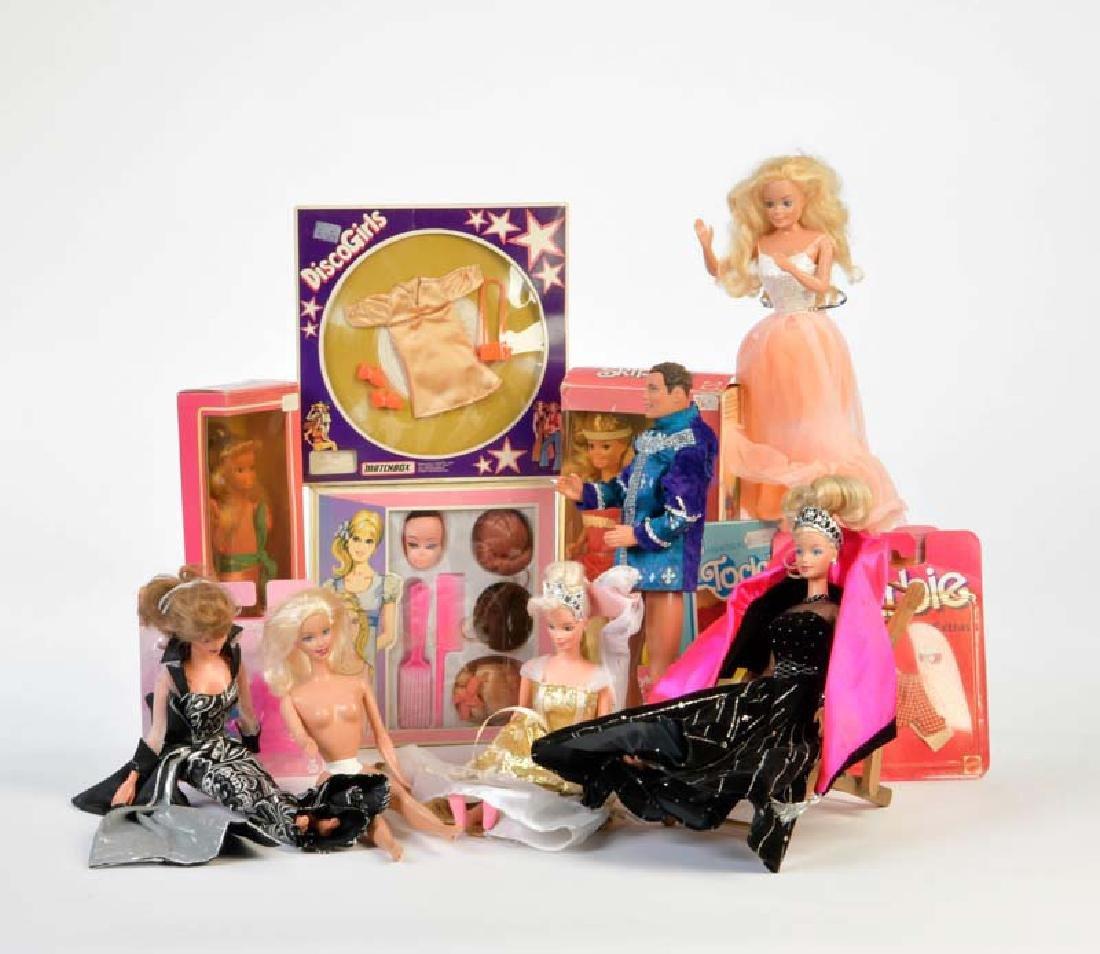 Mattel + Petra, 8x Skipper, Ben, Zubehoer u.a.