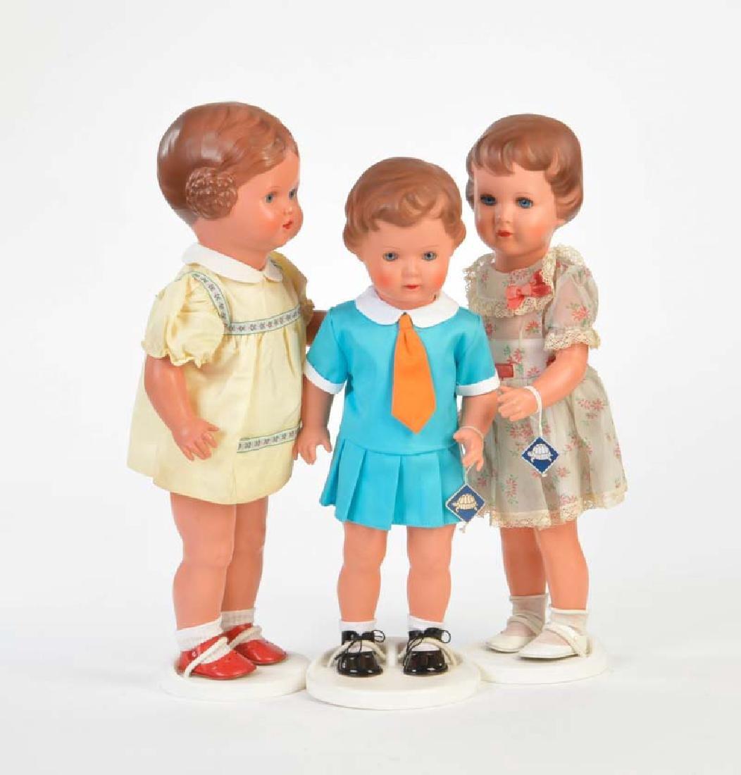 Schildkroet, 3 Puppen