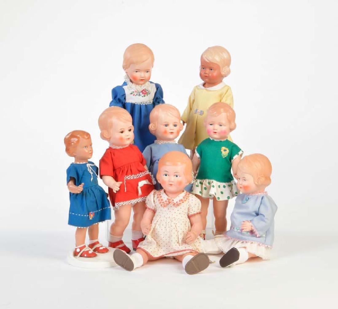 Schildkroet, 8 Puppen