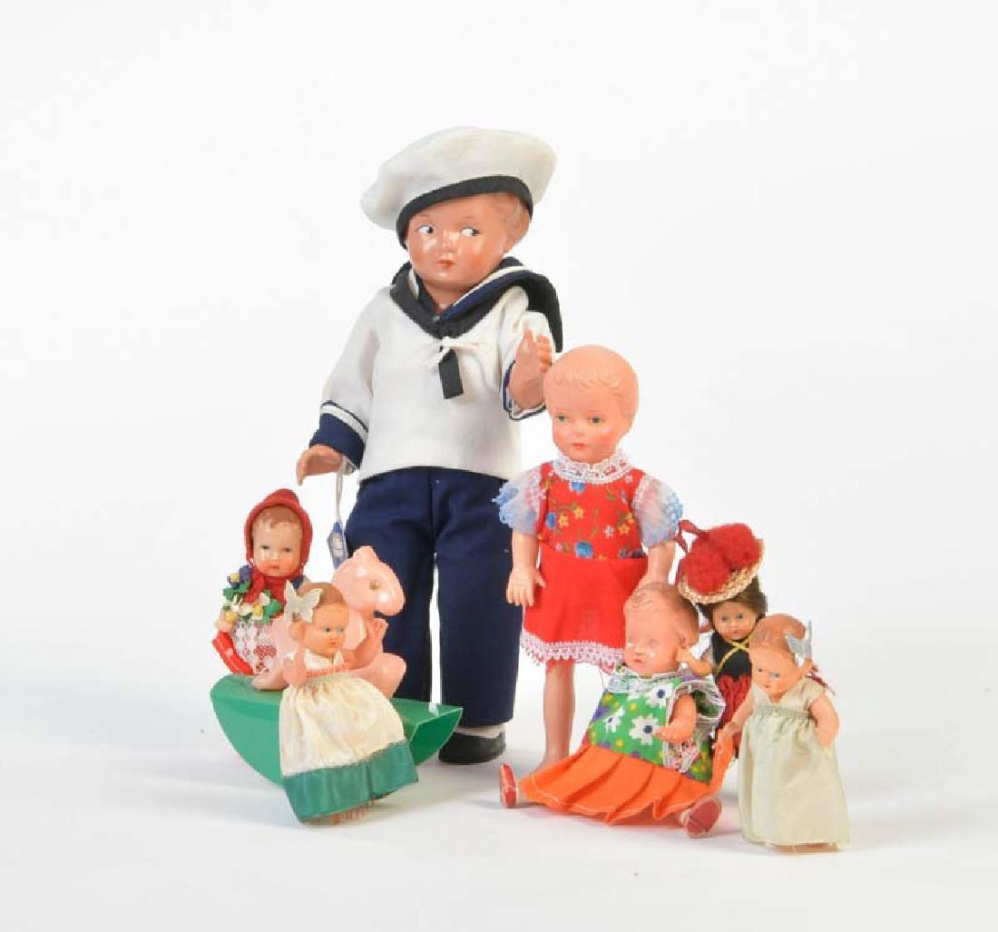 Schildkroet, Celluloid Puppen
