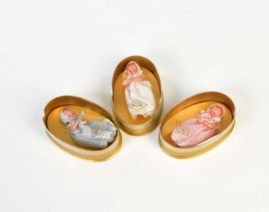 Schildkroet, 3 Baby Puppen