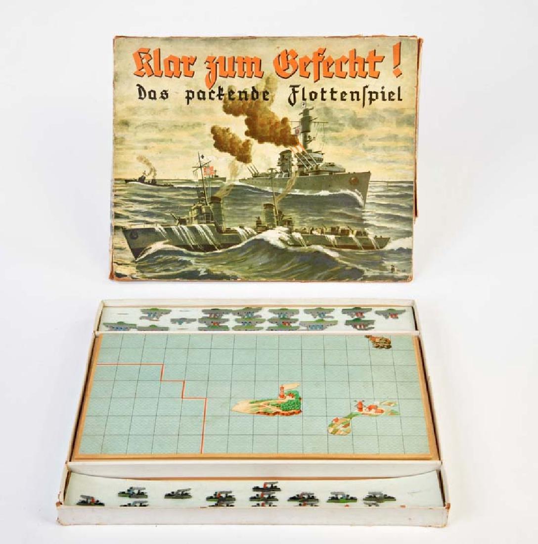 Flottenspiel mit 33 Zinn Schiffen