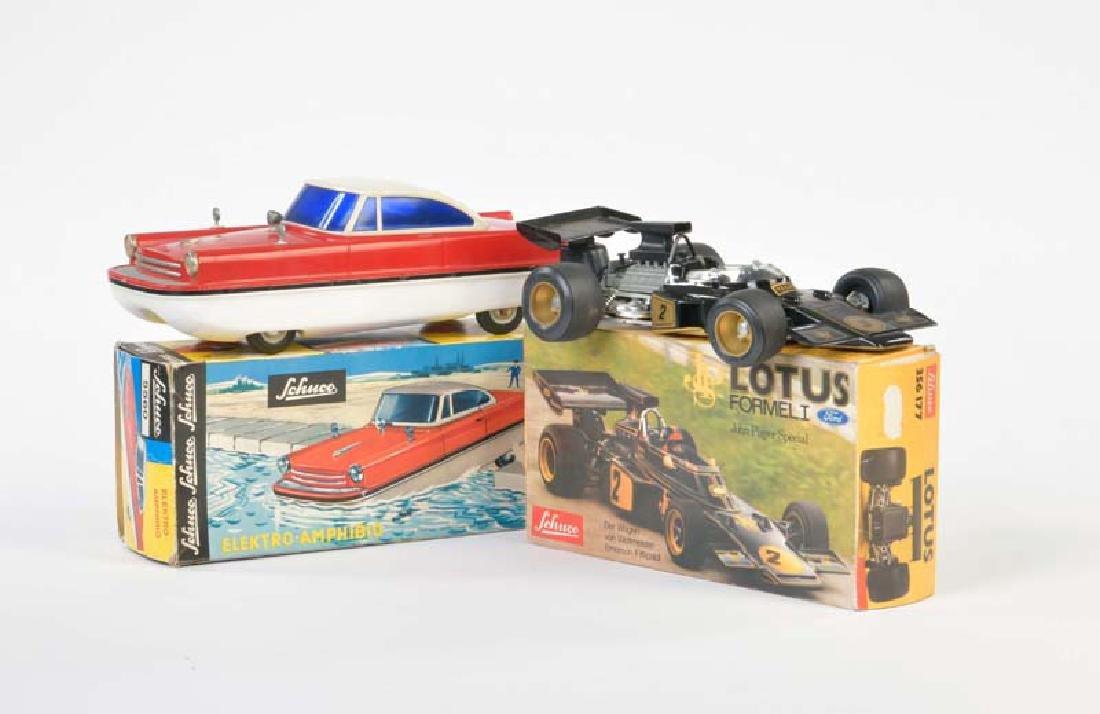 Schuco, Lotus Rennwagen + Amphibio