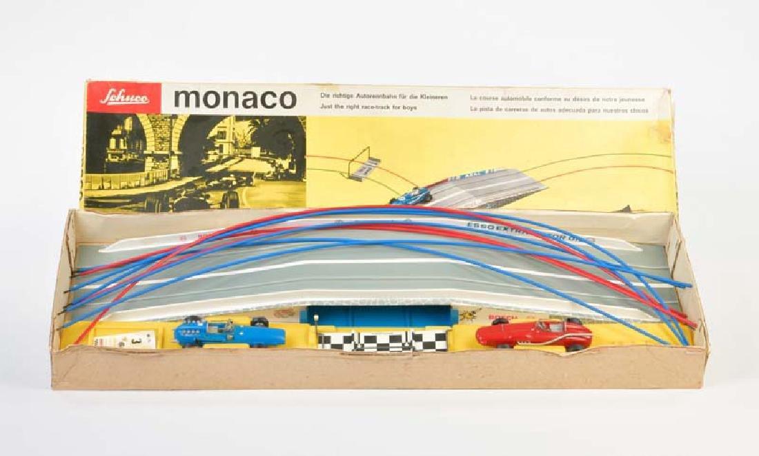 """Schuco, Rennbahn """"Monaco"""" + 2 Microracer"""