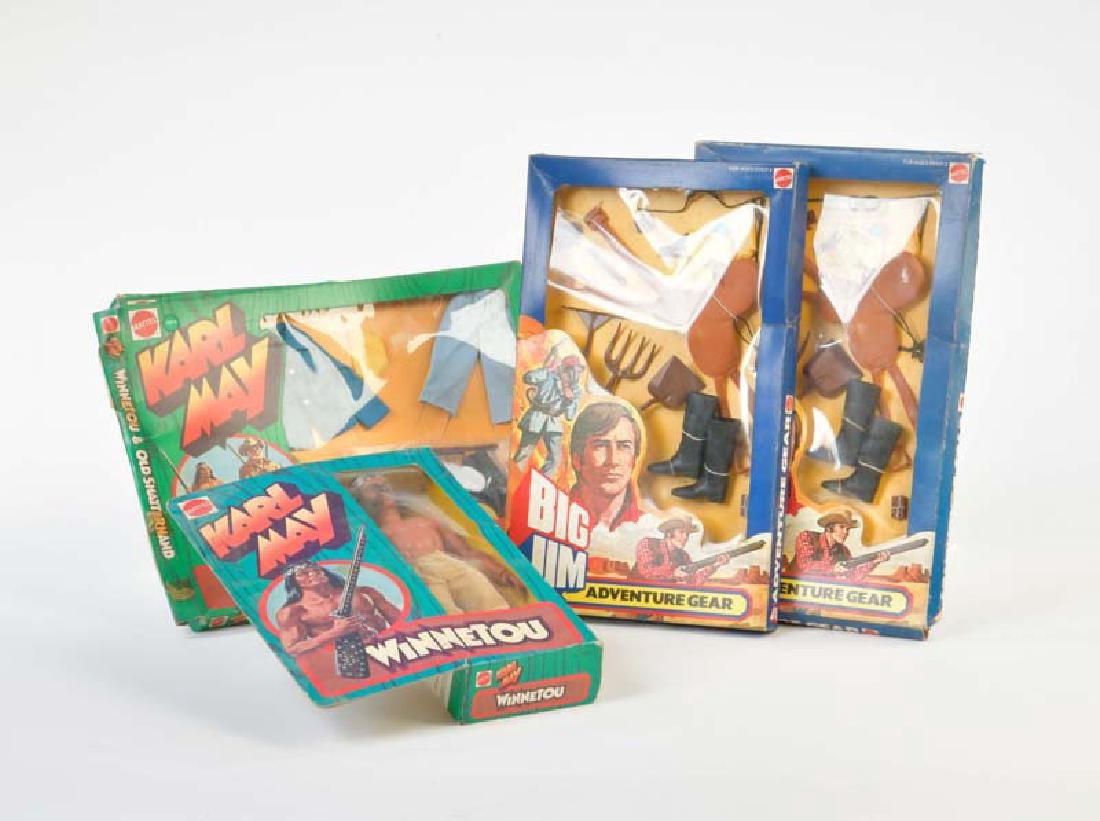 Mattel, Winnetou + 4x Zubehoer (Big Jim) von 1975