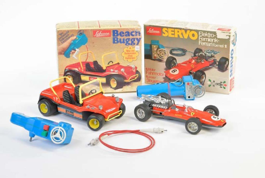 Schuco, Beach Buggy + Ferrari
