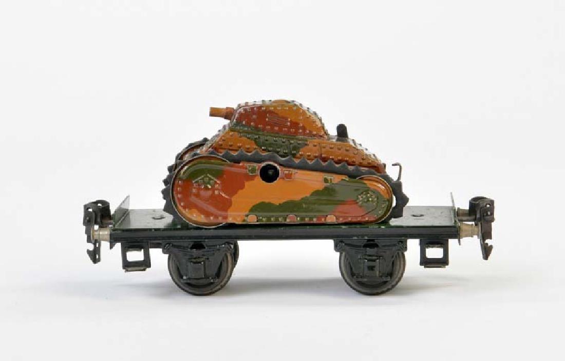 Marklin, Plattformwagen mit Panzer