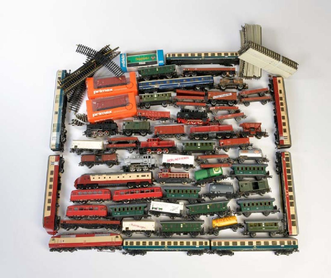 Marklin, Loks, Wagen + Schienen