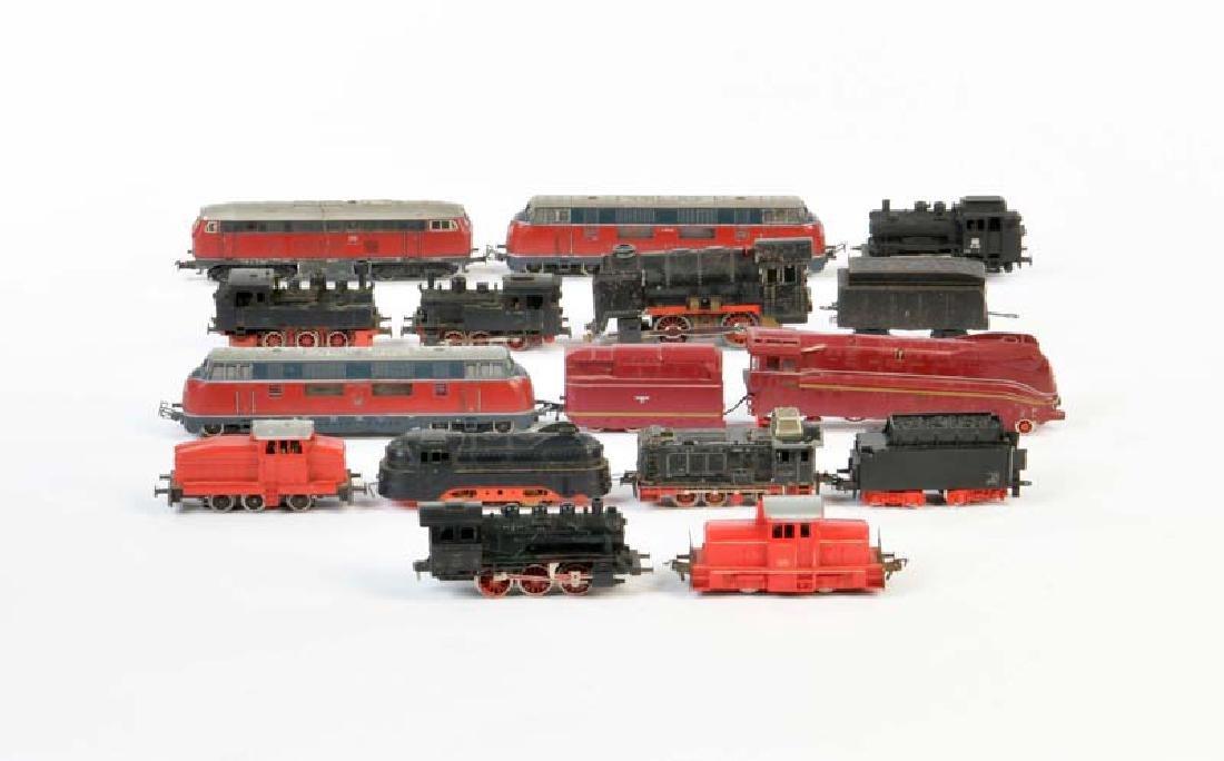 Marklin, Fleischmann: Konvolut Eisenbahn