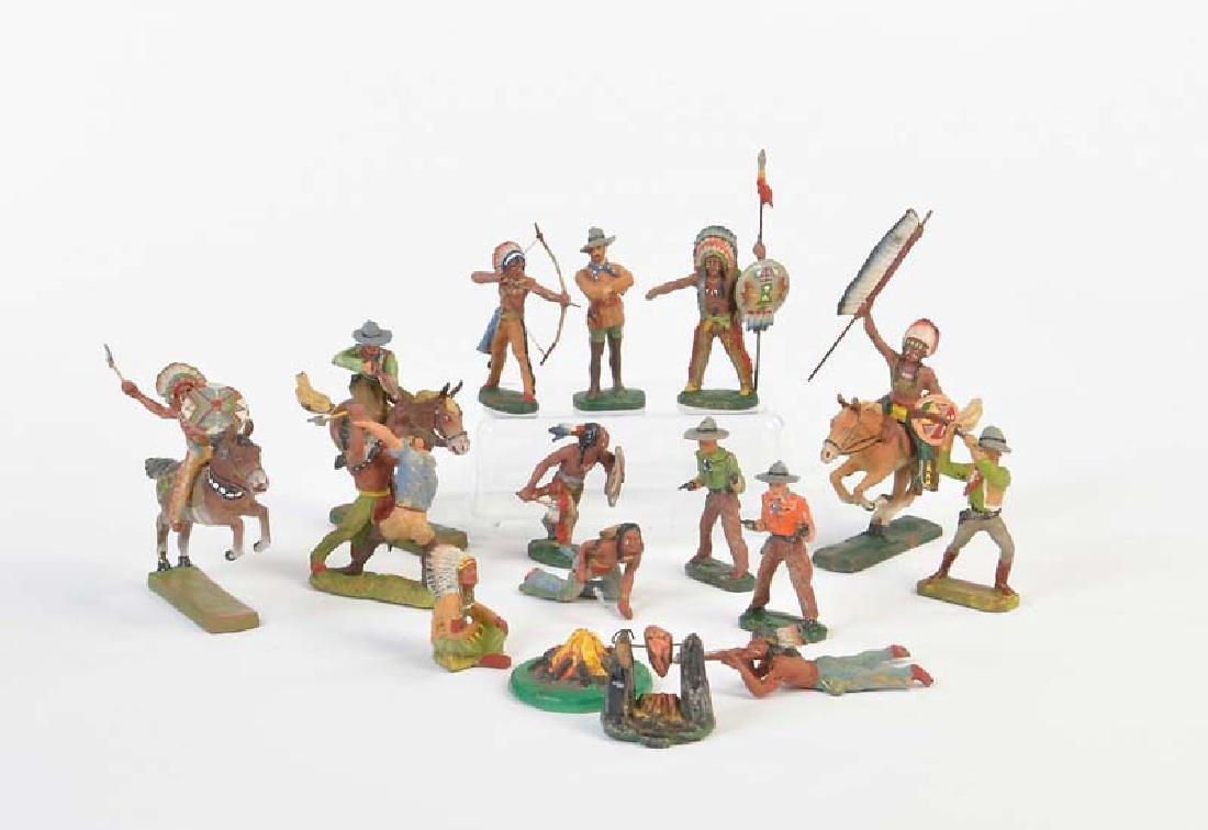 Elastolin, 18 Cowboys + Indianer