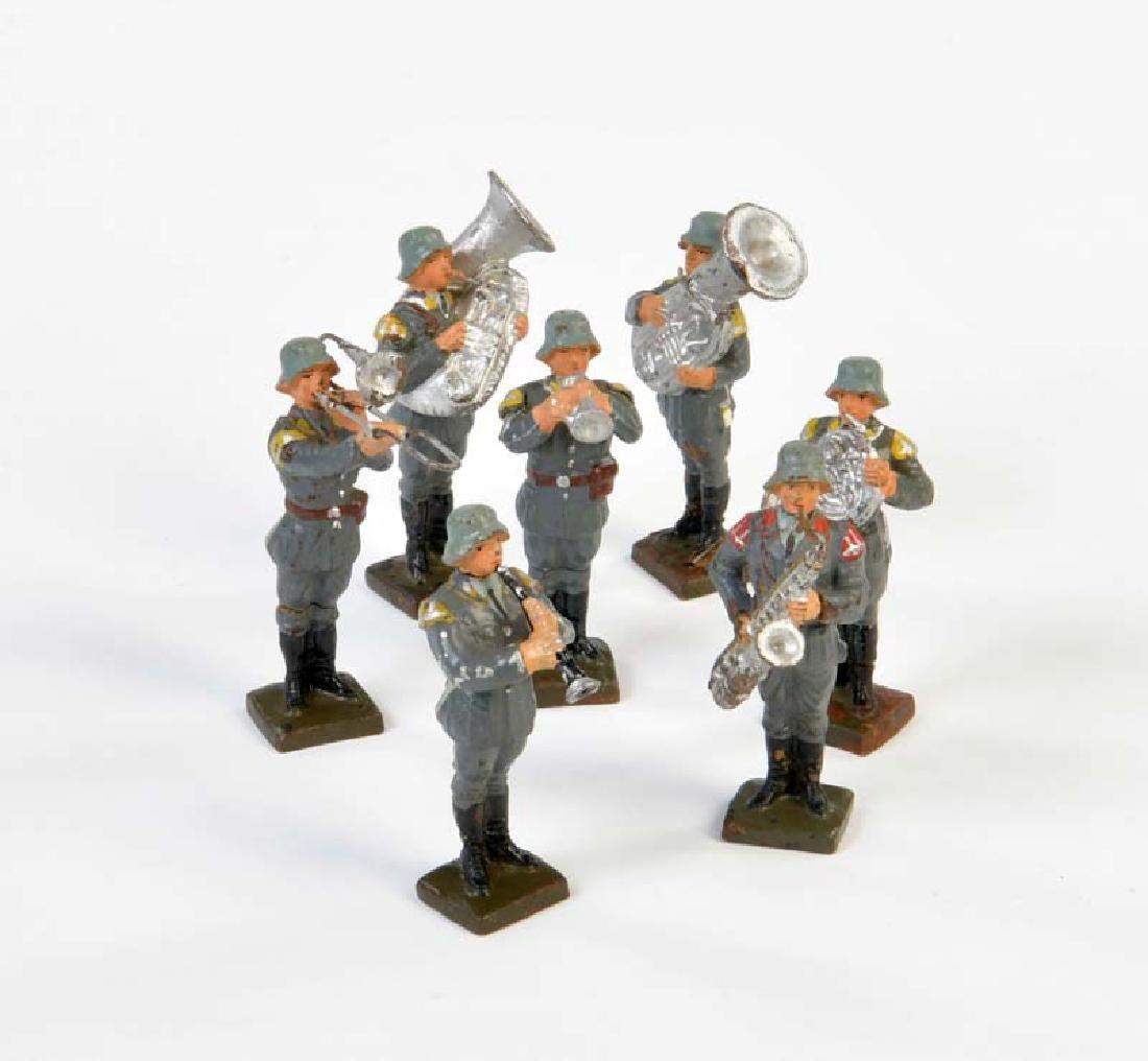 Lineol, 6 Standmusiker der Luftwaffe + 1 Standmusiker