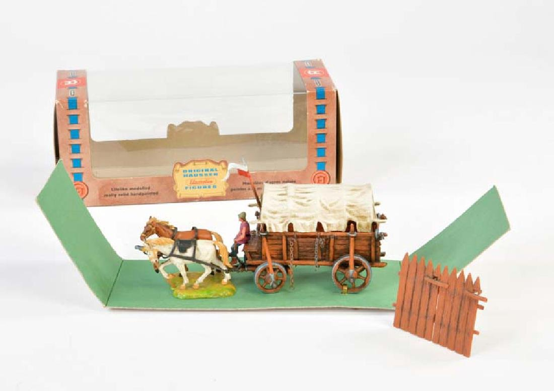 Elastolin, Kampfwagen mit 2 Pferden