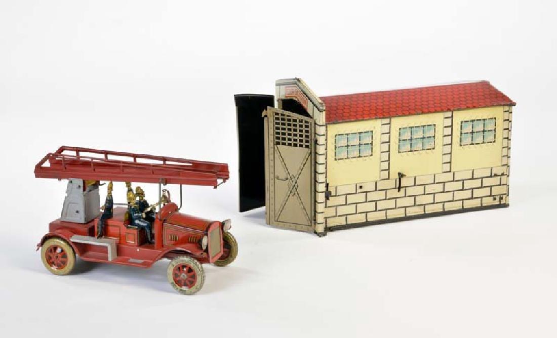 Tippco, Feuer Station mit Fahrzeug