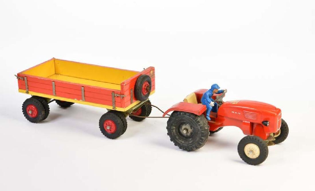 Steiff, Traktor + Anhaenger