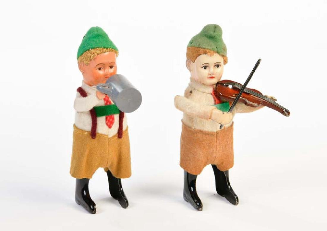 Schuco, Bayer mit Bierkrug + Bayer mit Geige