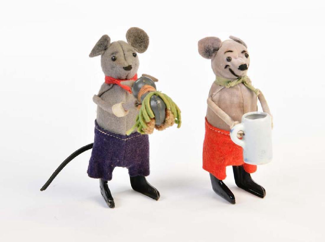 Schuco, Maus mit Krug + Maus mit Kind