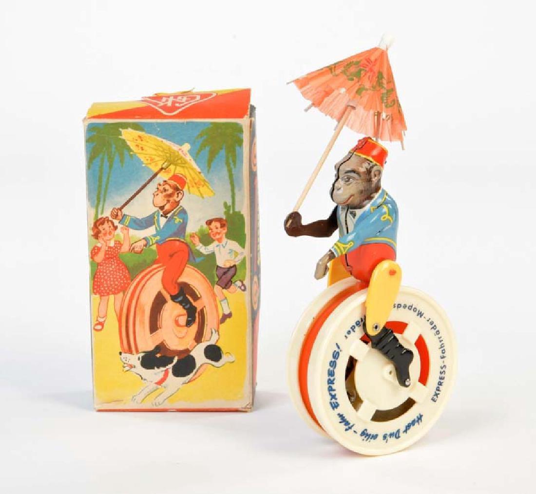 Koehler, Affe auf Einrad