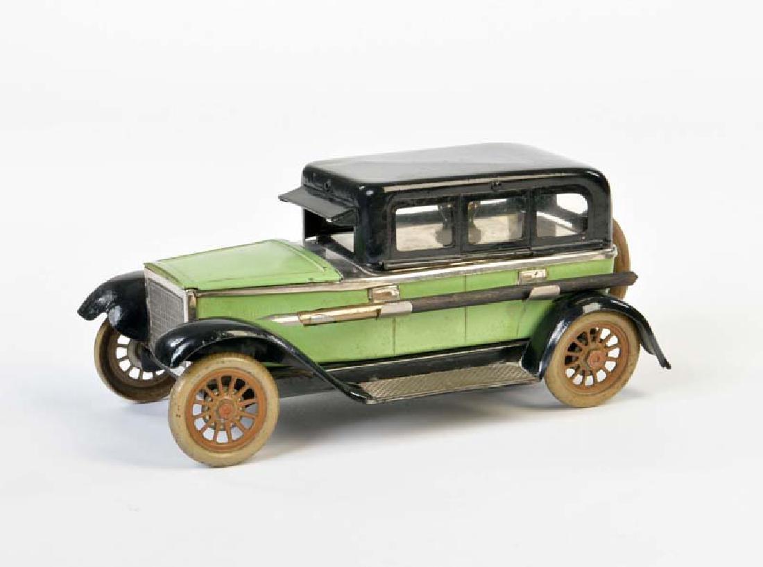 Limousine mit Tintenfass, Loeschpapier + Feder