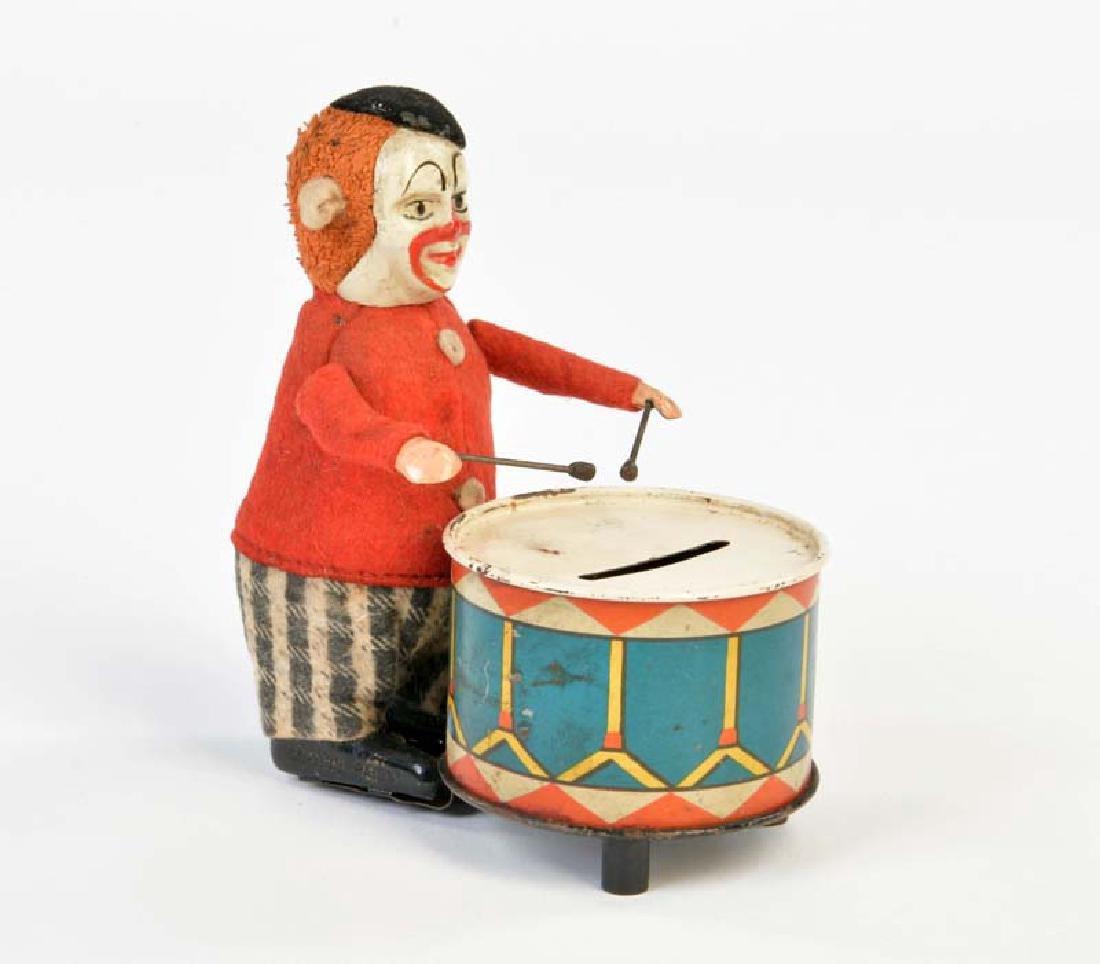 Schuco, Clown mit Spardosen Trommel