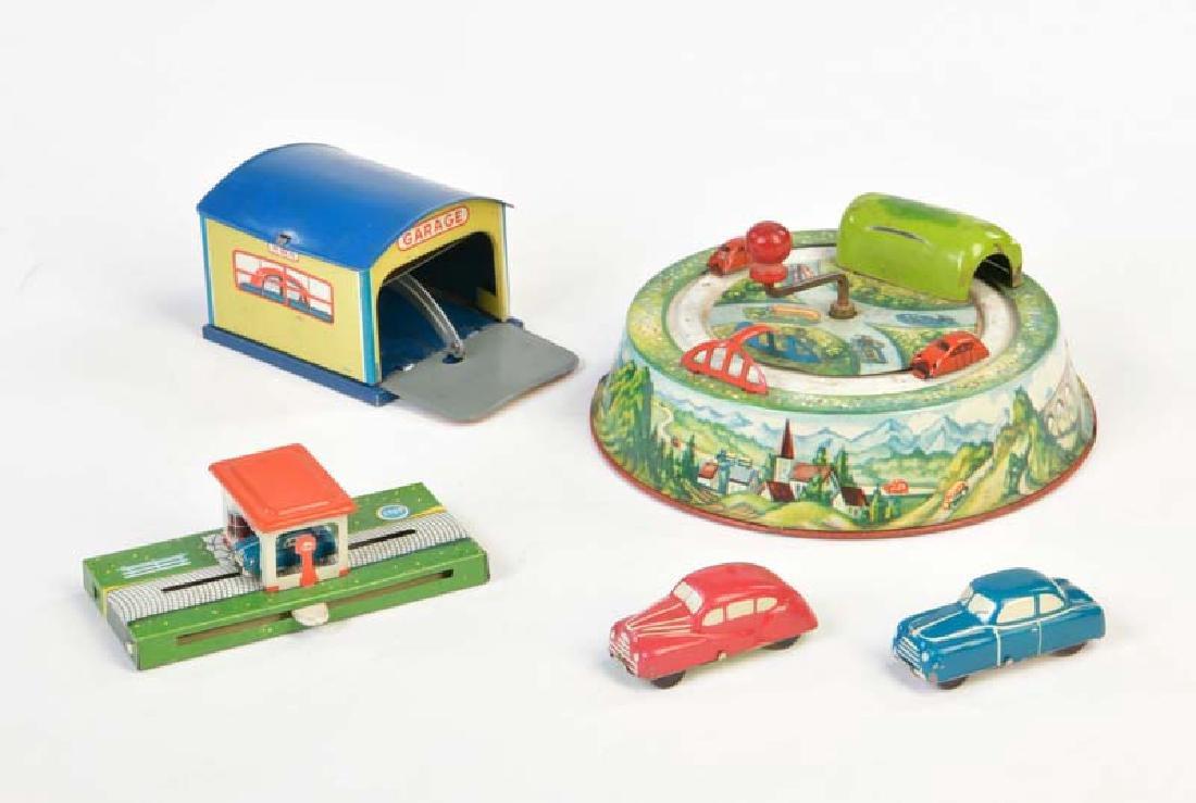 HWN u.a., Garage mit 2 Autos + 2 Autospiele