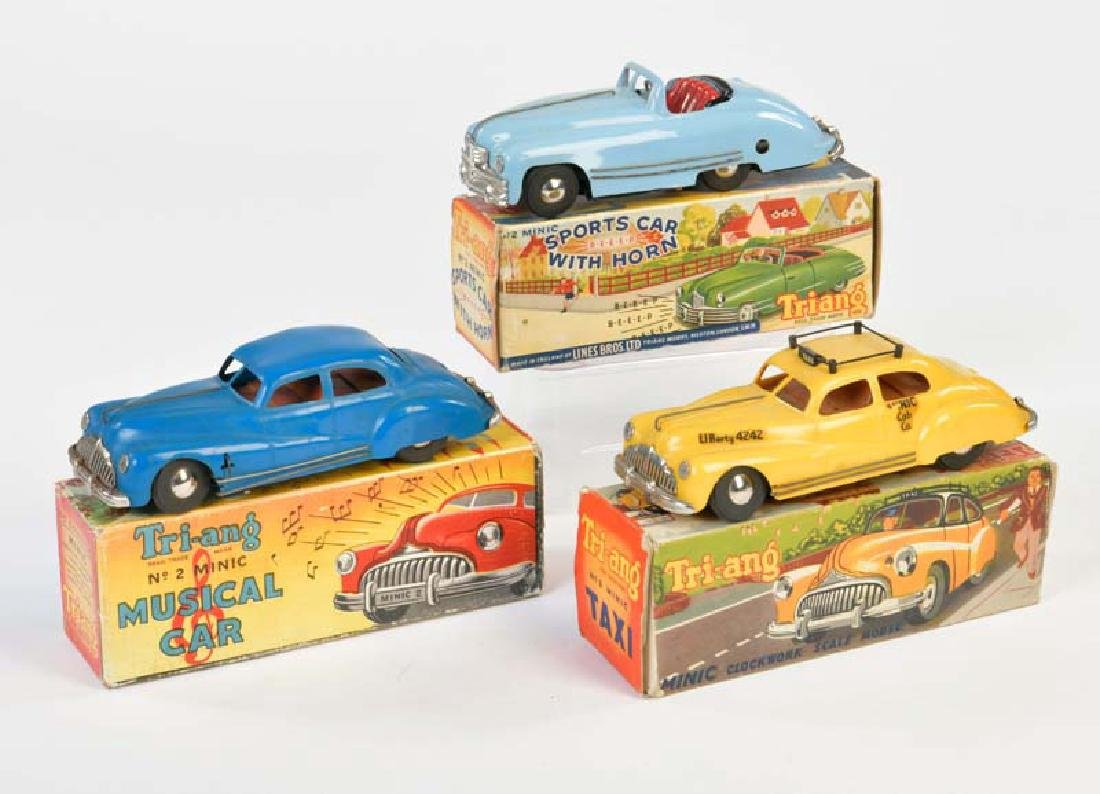 Triang, 2 Limousinen + Cabriolet