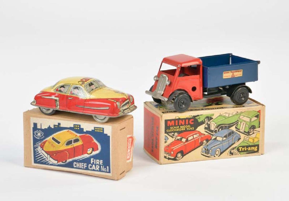 Minic + Modern Toys, LKW + Fire Chief Car