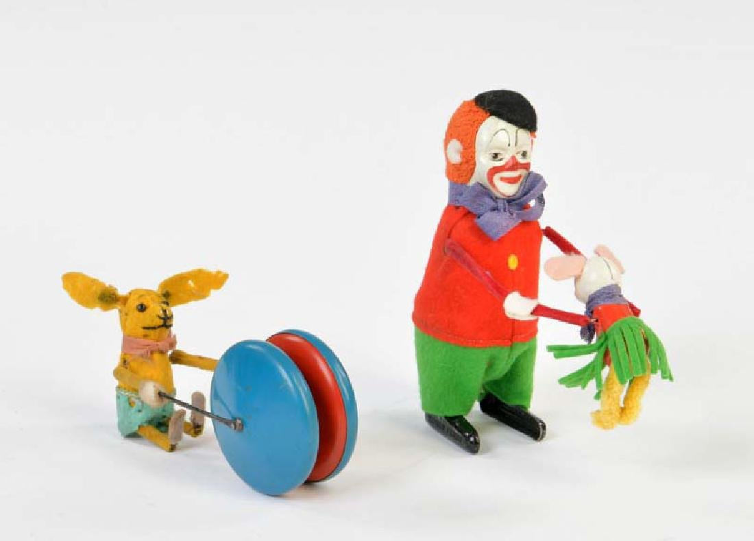 Schuco, Clown mit Maus + Jojo