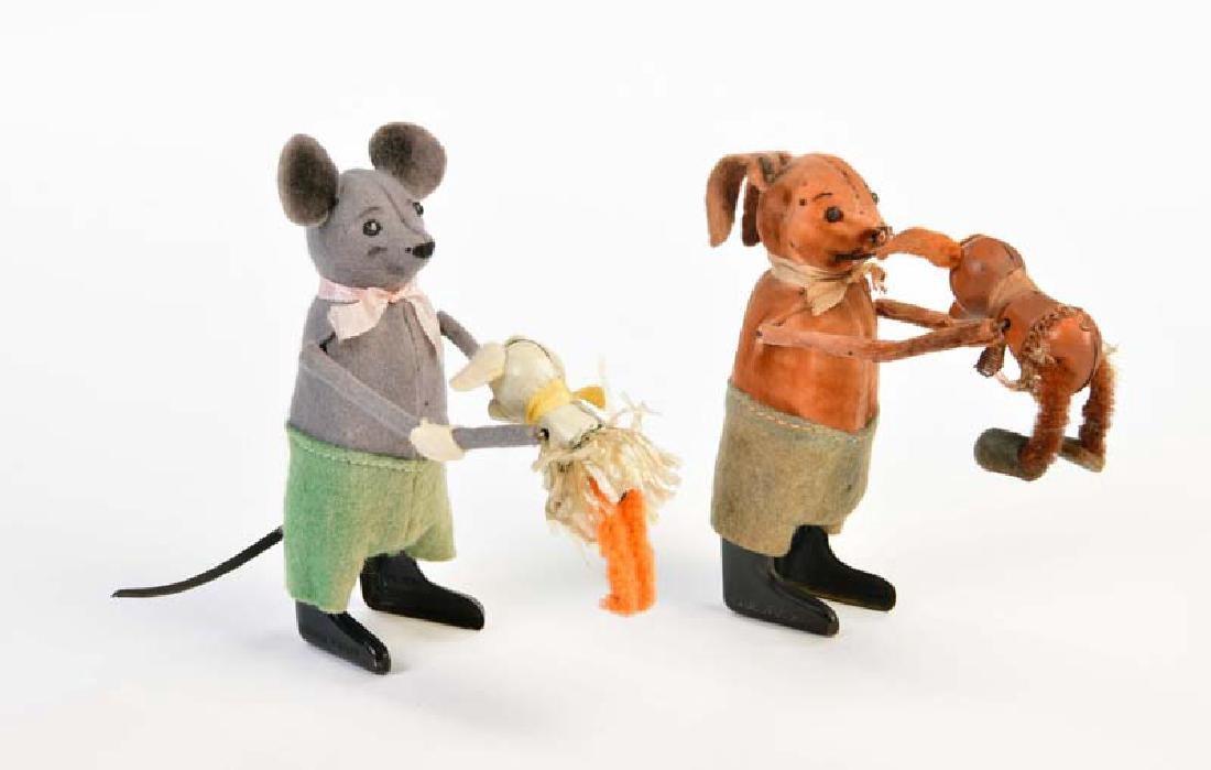 Schuco, Maus mit Baby + Hase mit Baby