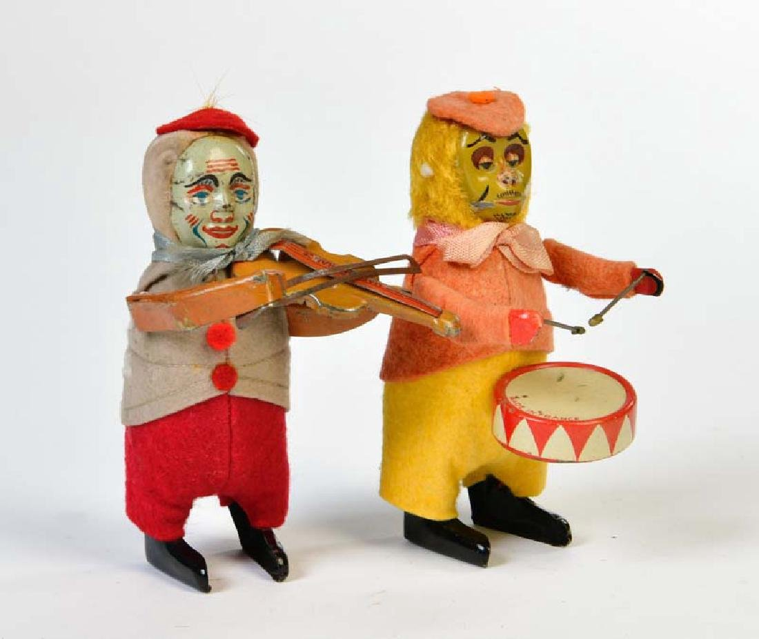 SFA Paris, Schuco Kopie Affe mit Trommel + Clown mit