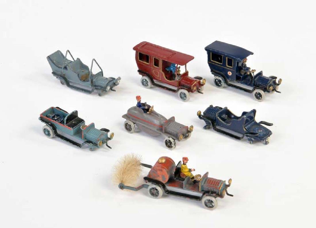 Plank, 7 Autos um 1910