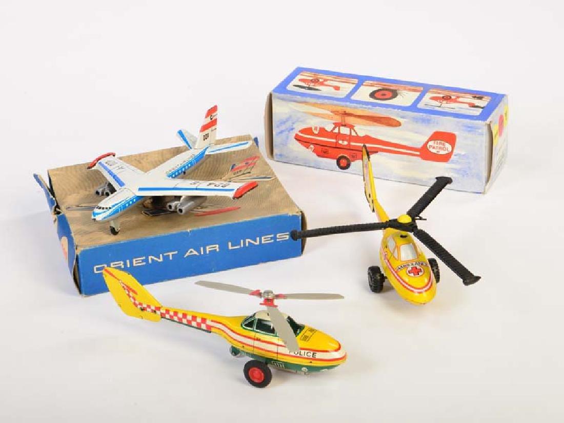 Plasticart u.a., 2 Hubschrauber + 1 Flugzeug