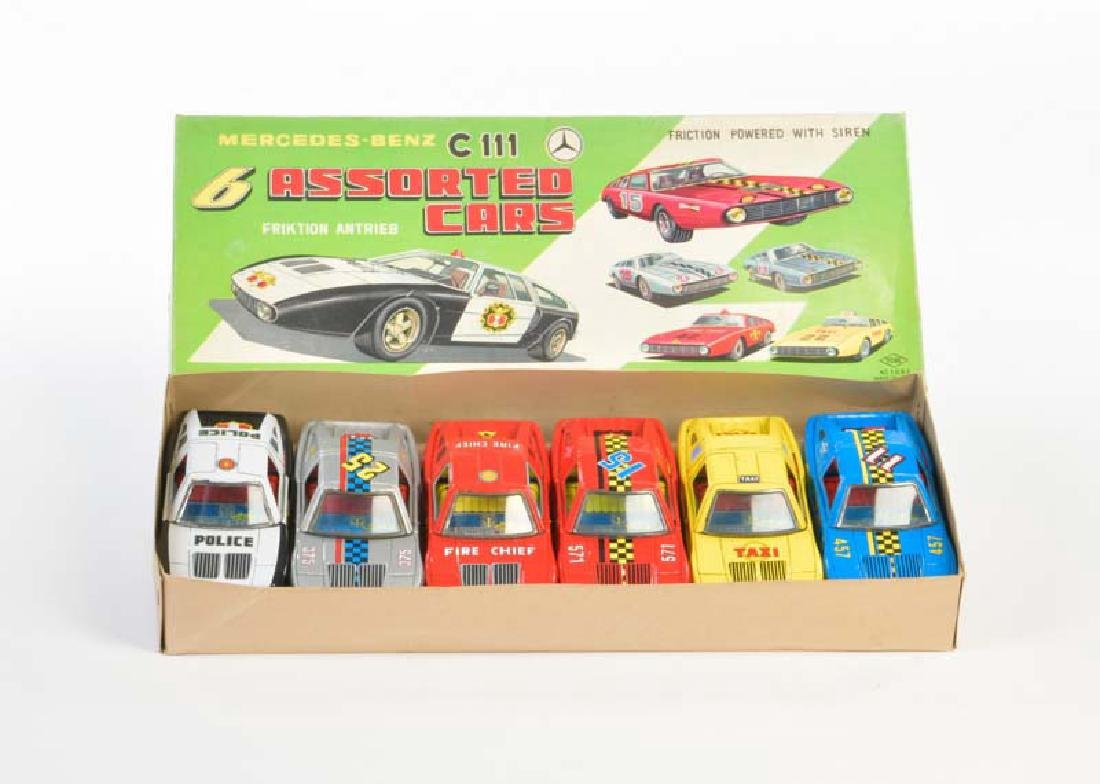 Yone, 6 Assorted Cars Mercedes C 111