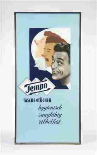 """Glasschild """"Tempo"""""""